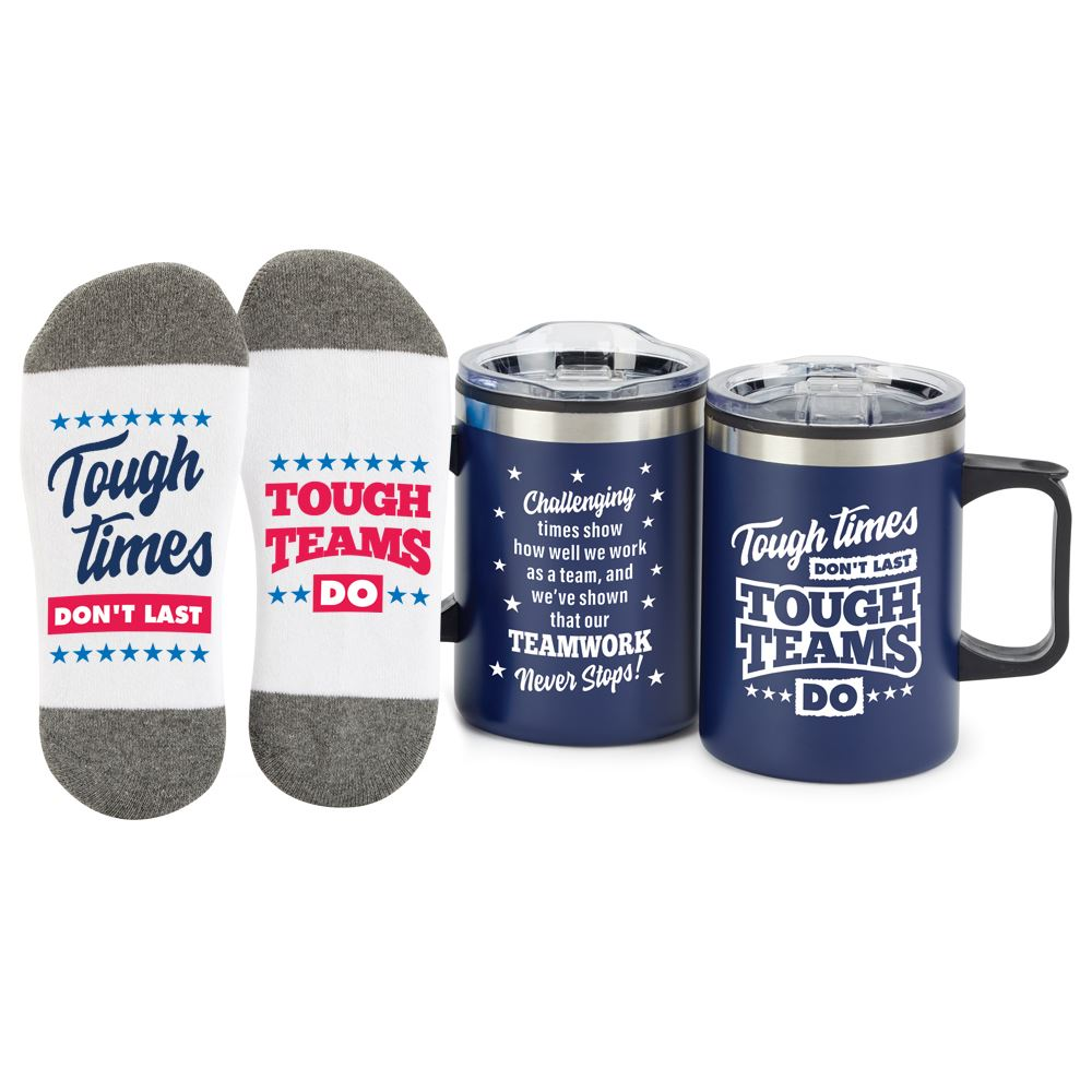 Tough Times Don't Last Tough Teams Do Sonoma Mug & Socks Gift Set