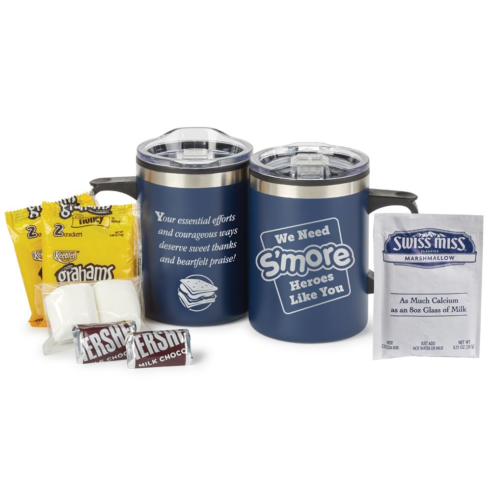We Need S'more Heroes Like You Sonoma Stainless Steel Mug 12 Oz. with S'mores and Hot Cocoa