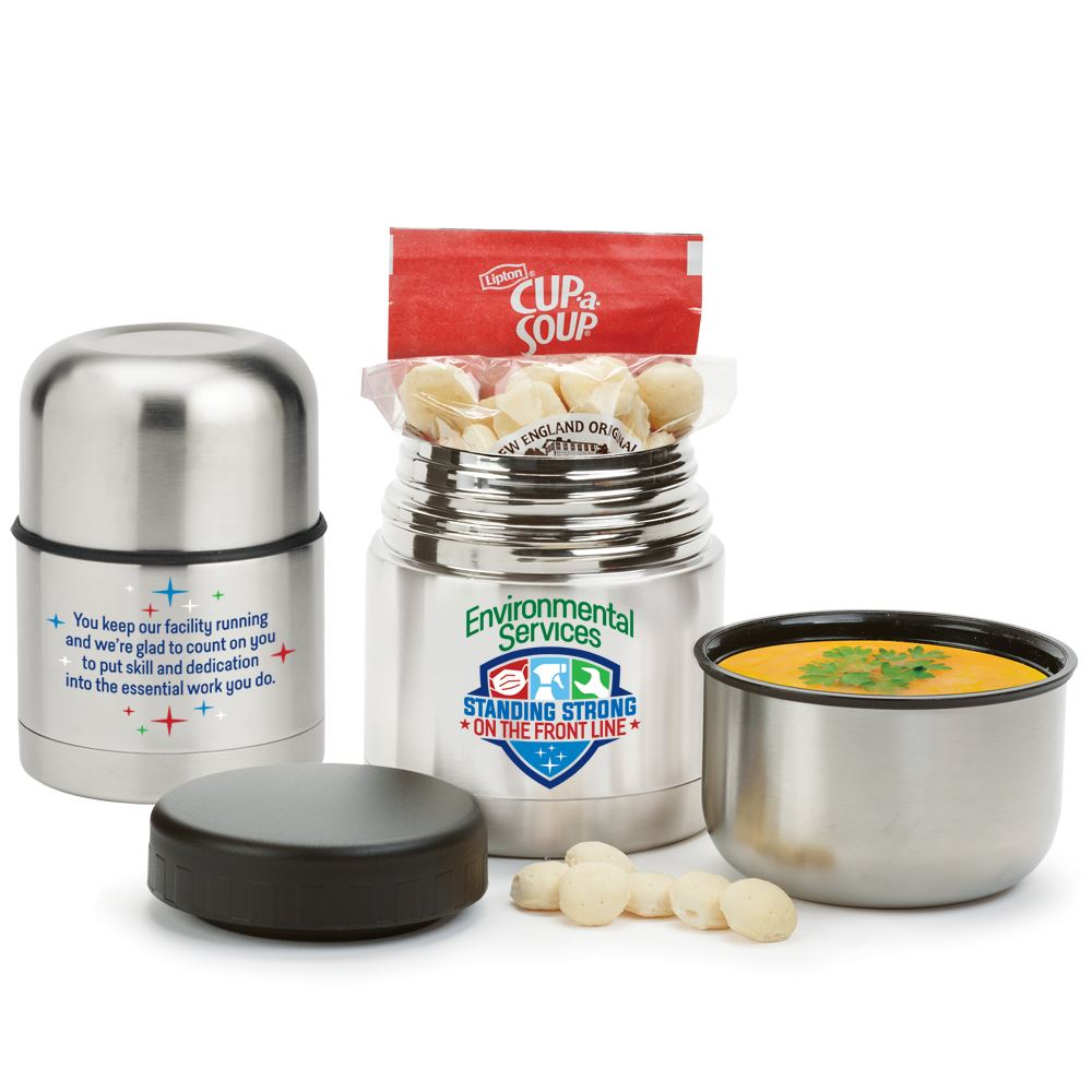 Environmental Services: Standing Strong On The Front Line Stainless Steel Vacuum Food Container Gift Set