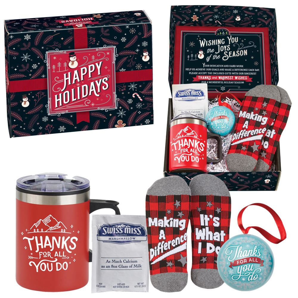 Thanks For Making A Difference Gift Set In Holiday Gift Box