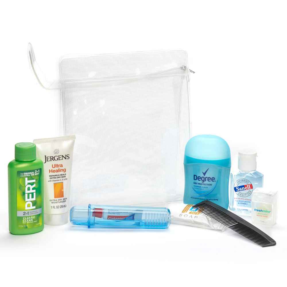 9-Piece Value Hygiene Kit in Clear Pouch
