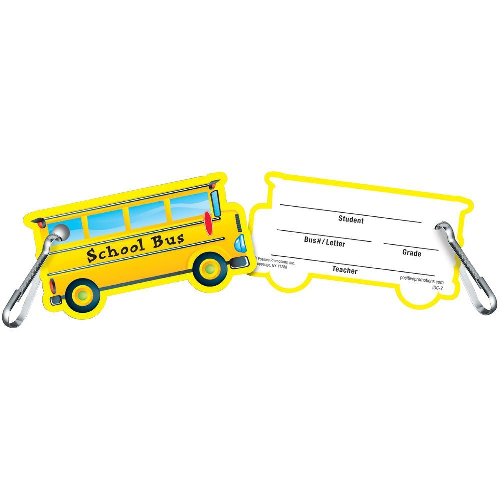 Clip-On Student School Bus I.D. Card - 25 Per Pack