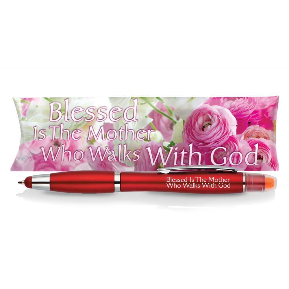 Blessed Is The Mother Who Walks With God 3-in-1 Pen/Stylus/Highlighter in Pillowbox