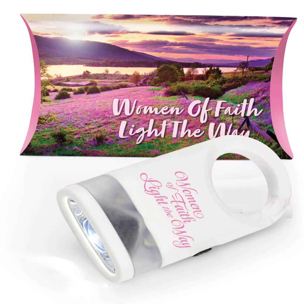 Women Of Faith Light The Way White LED Carabiner Flashlight Lamp