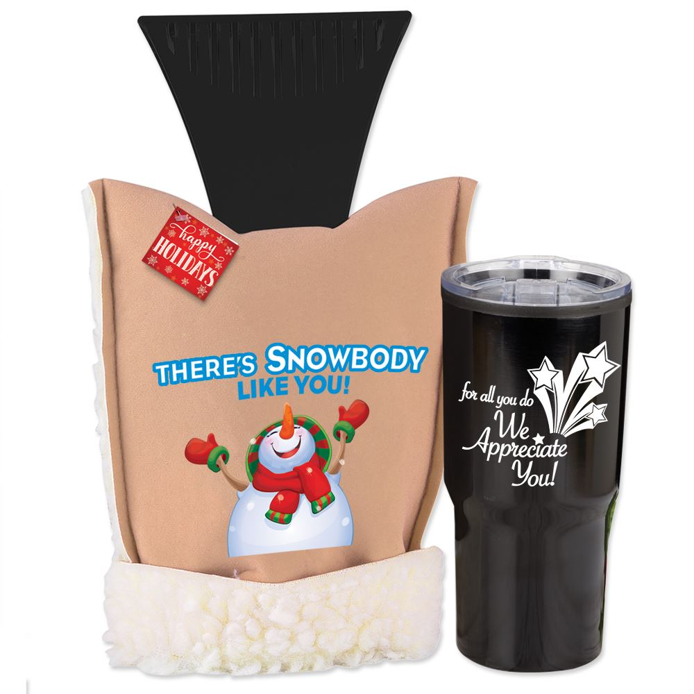 There's Snowbody Like You! Deluxe Ice ScraperMitt & Timber Tumbler Gift Set