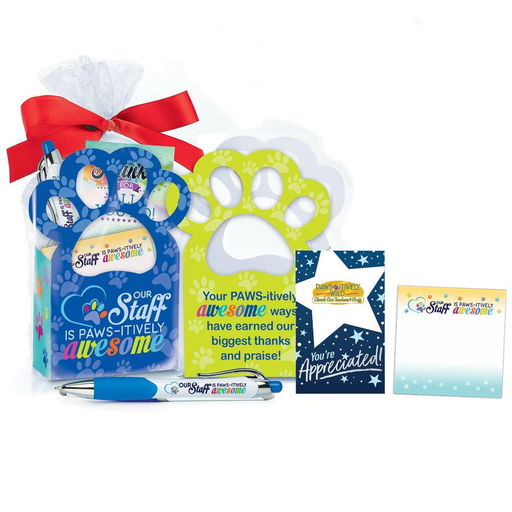 Our Staff Is Paws-itively Awesome Paw Gift Set Mini Tote