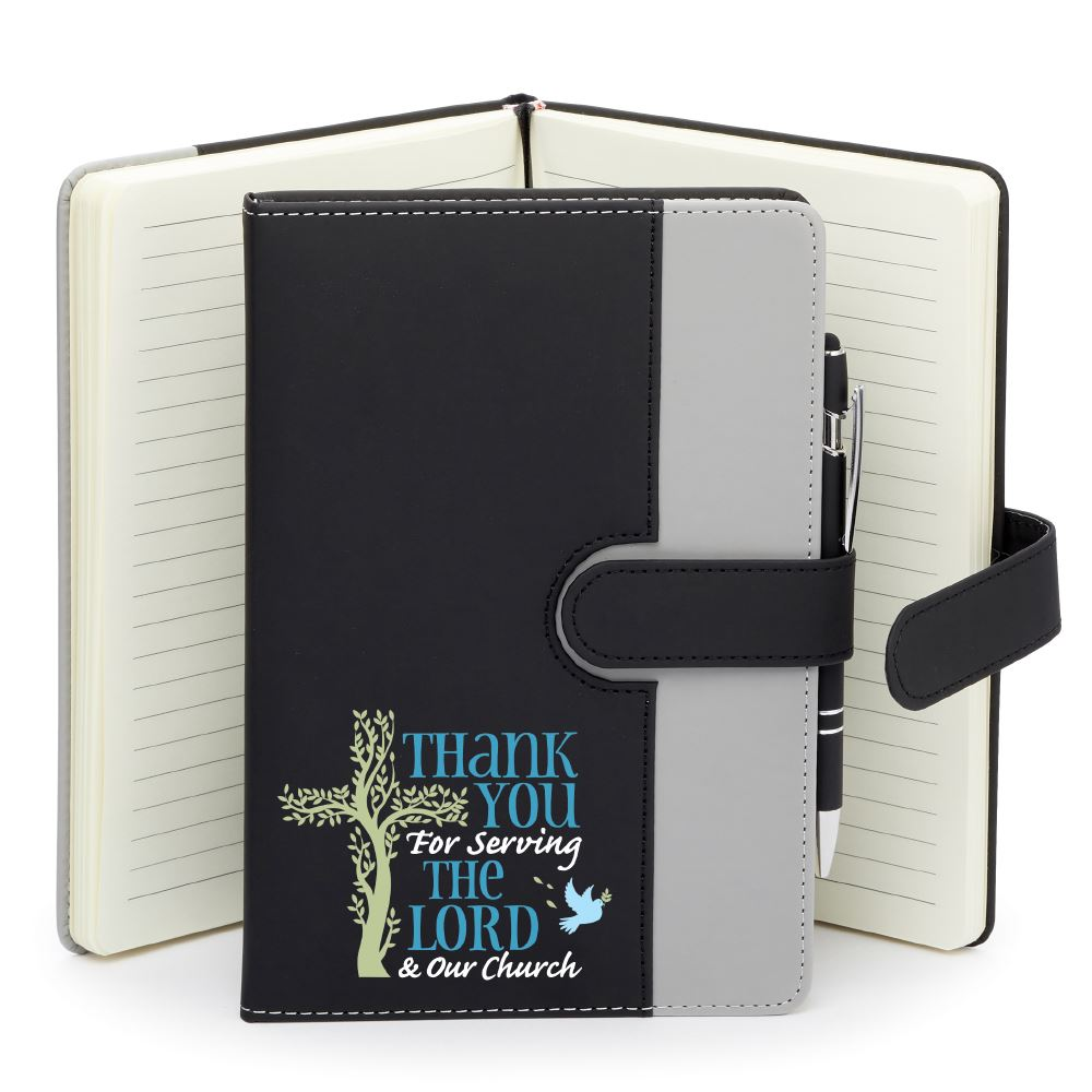 Thank You For Serving The Lord & Our Church Phone Pocket Journal