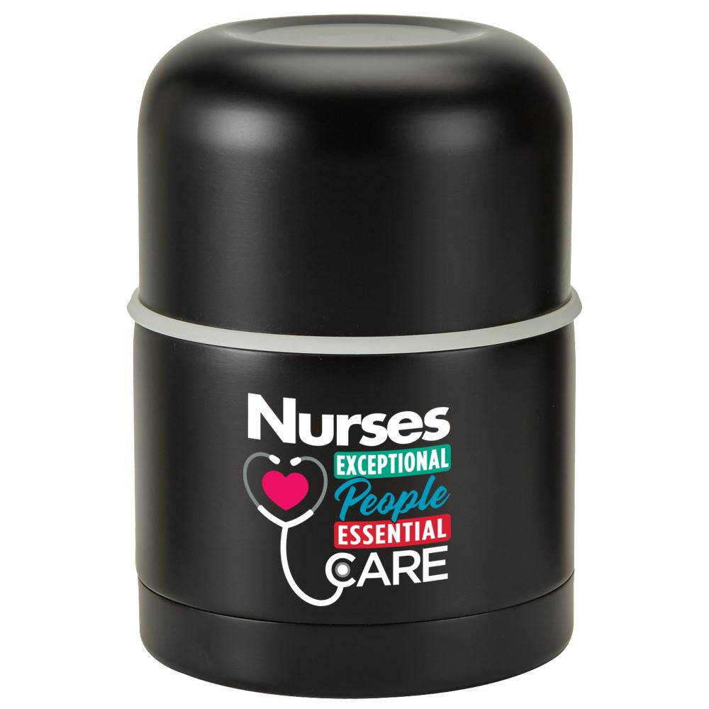 Nurses Exceptional People, Essential Care Stainless Steel Vacuum Food Container Gift Set