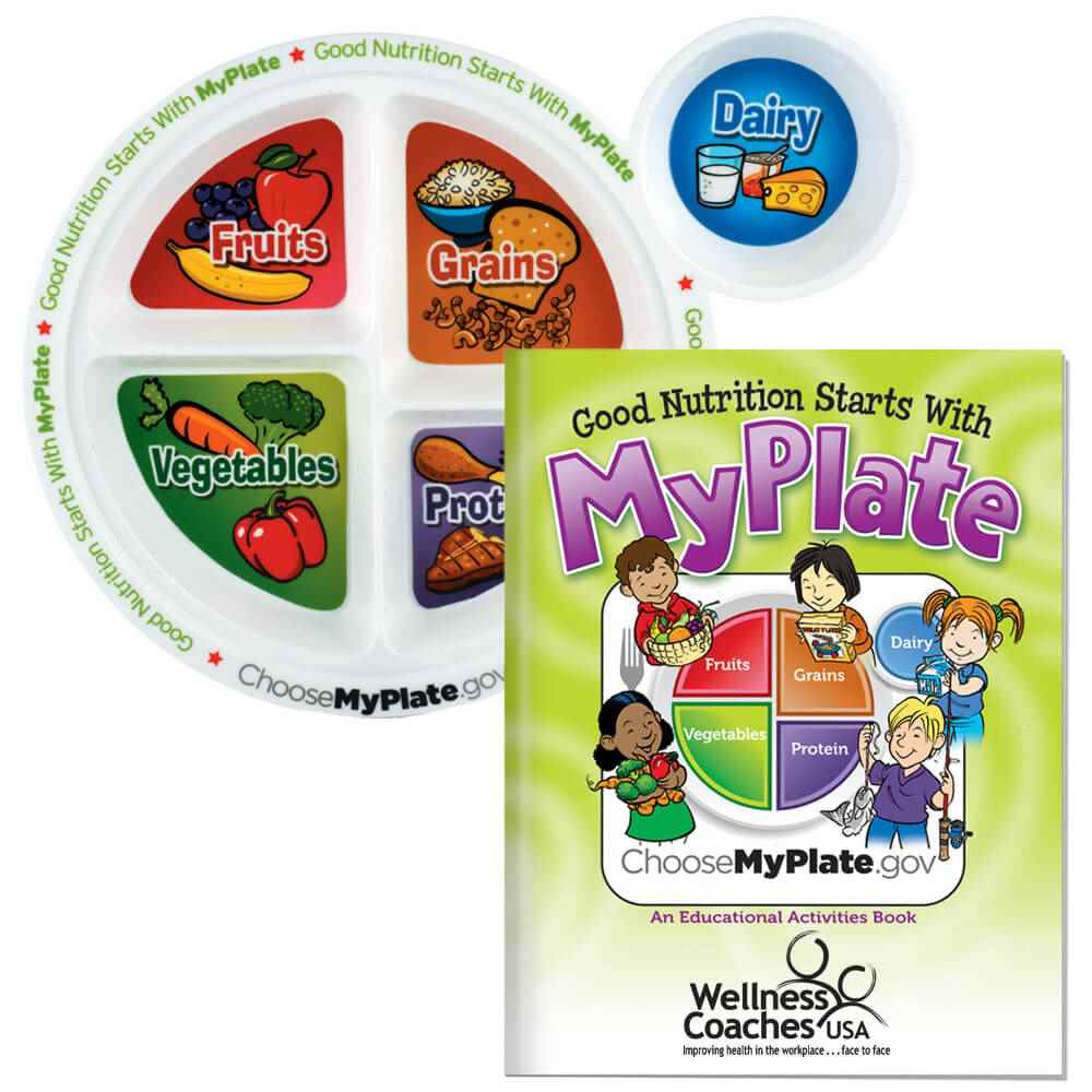 Child's Portion Meal Plate With Educational Activities Book - Personalization Available