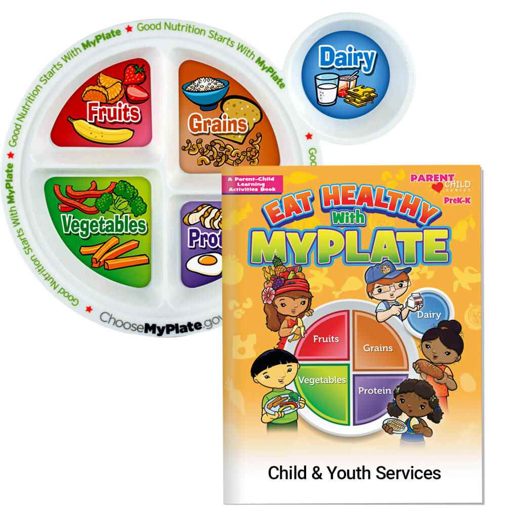 MyPlate Preschool Portion Meal Plate With Activities Book - Personalization Available