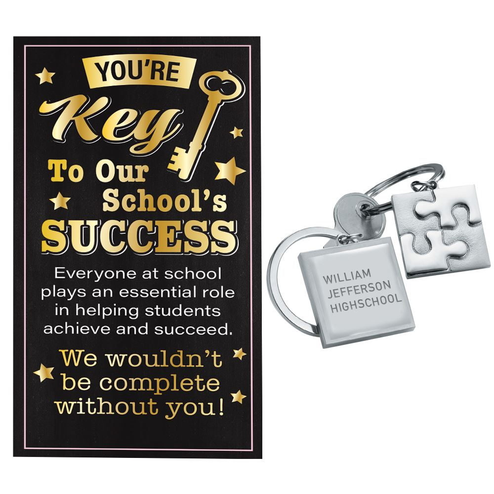 Puzzle Key Ring With Keepsake Card - Personalization Available