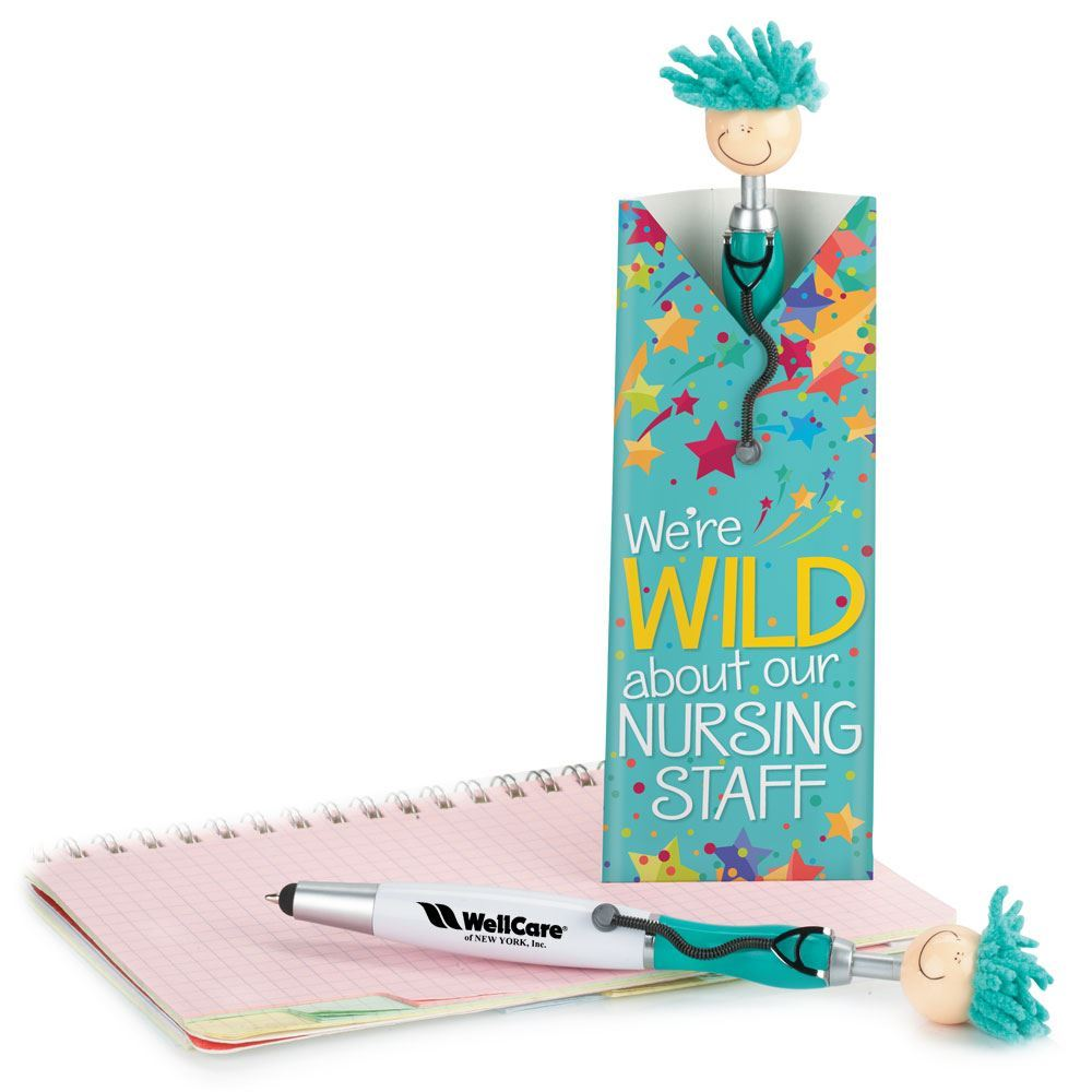 Wild About Nursing Mop Topper™ Stylus Pens With Pillow Box - Personalization Available