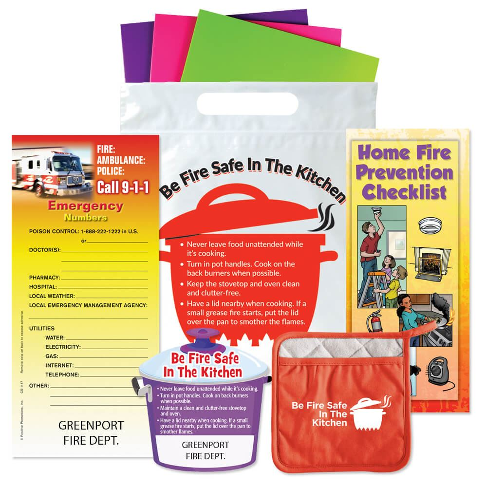 Kitchen Safety Kit - Personalization Available | Positive Promotions