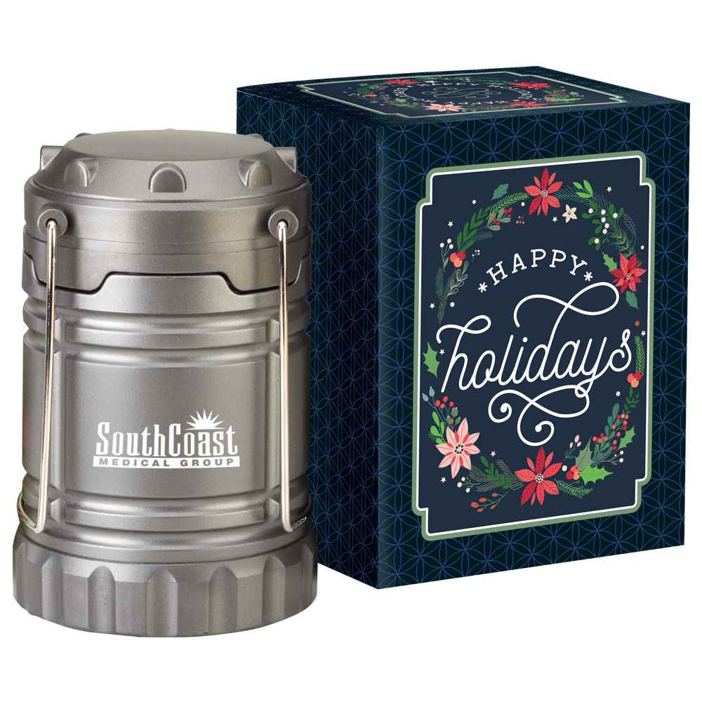 Titanium Indoor/Outdoor Lantern with Magnetic Base in Holiday Gift Box - Personalization Available