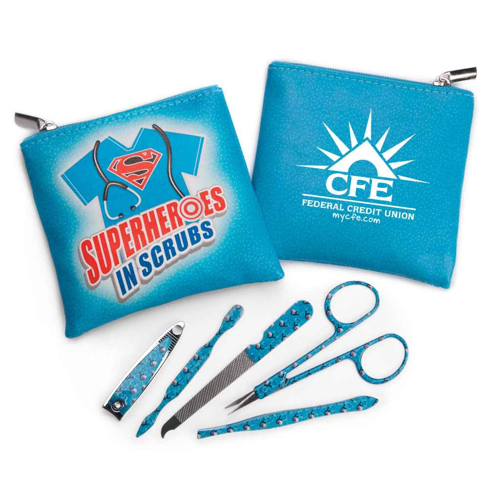 Superheroes In Scrubs Full-Color Manicure Kit - Personalization Available