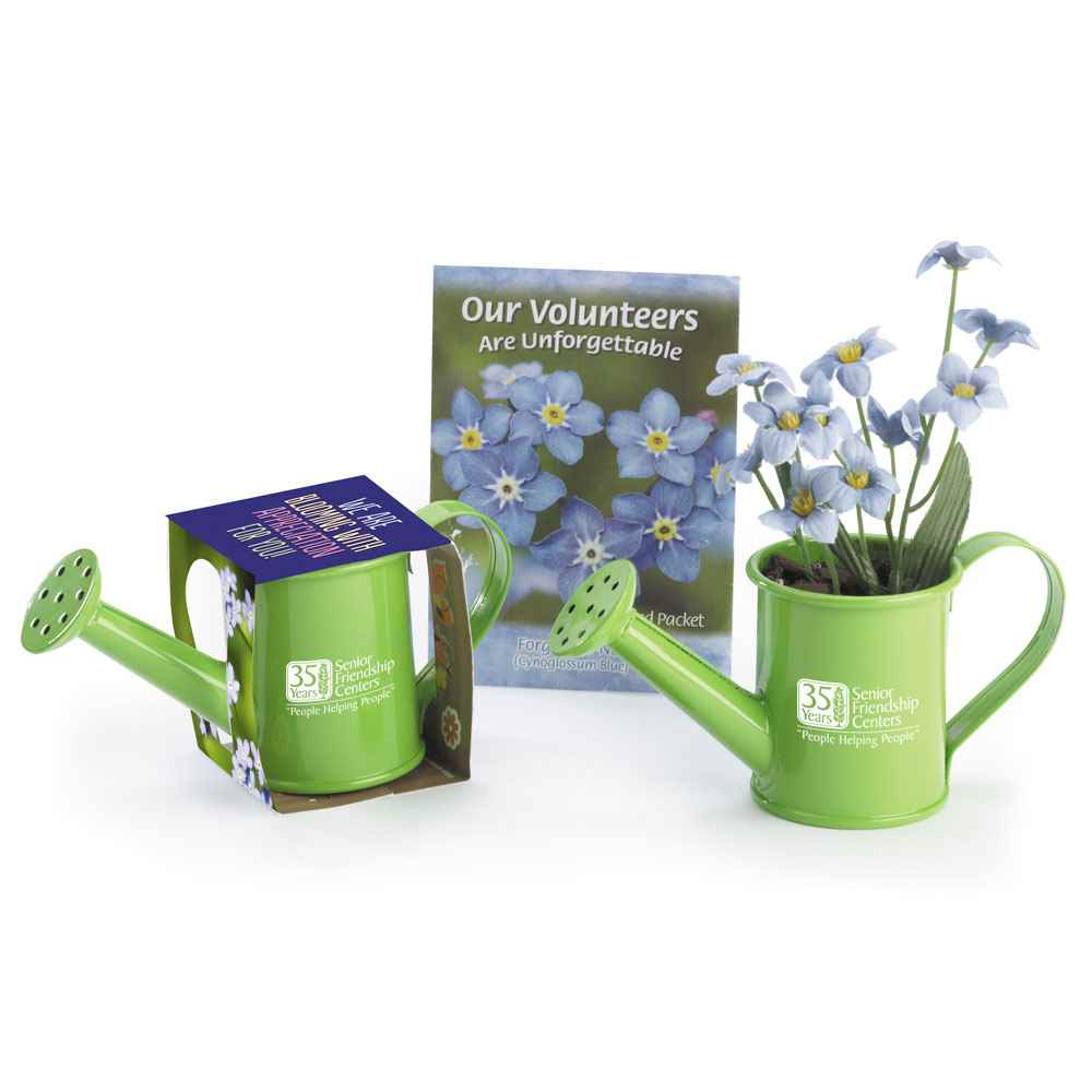 Volunteers Mini Watering Can Flowerpot Gift Set - Personalization Available