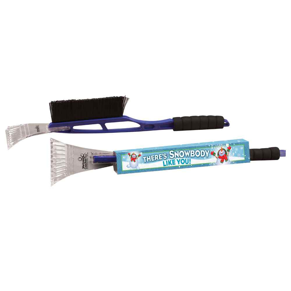 Ice Scraper/Snow Brush with Holiday Wrap - Personalization Available