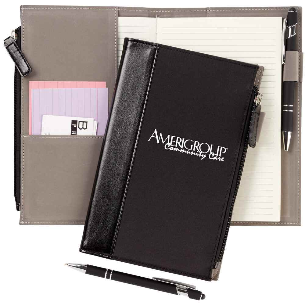 Leatherette Pocket Journal & Stylus Pen - Personalization Available