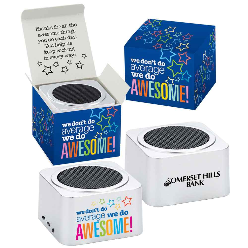We Don't Do Average, We Do Awesome! Bluetooth® Speaker In Box - Personalization Available