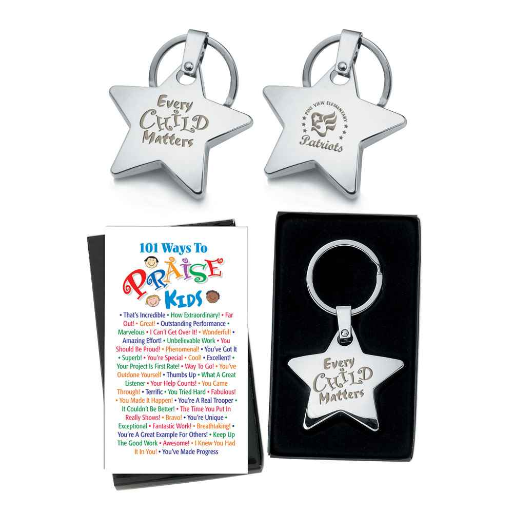 Every Child Matters Star Key Tag & Two-Sided Praise Card - Personalized