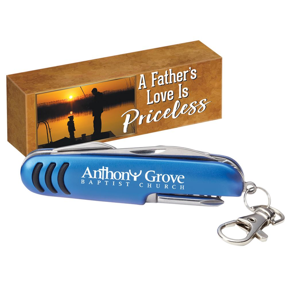 Deluxe Pocket Knife with A Father's Love is Priceless Gift Box - Personalization Available