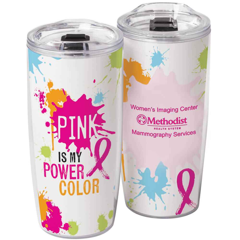 Pink Is My Power Color Sierra Insert Tumbler 19-Oz. with Personalization