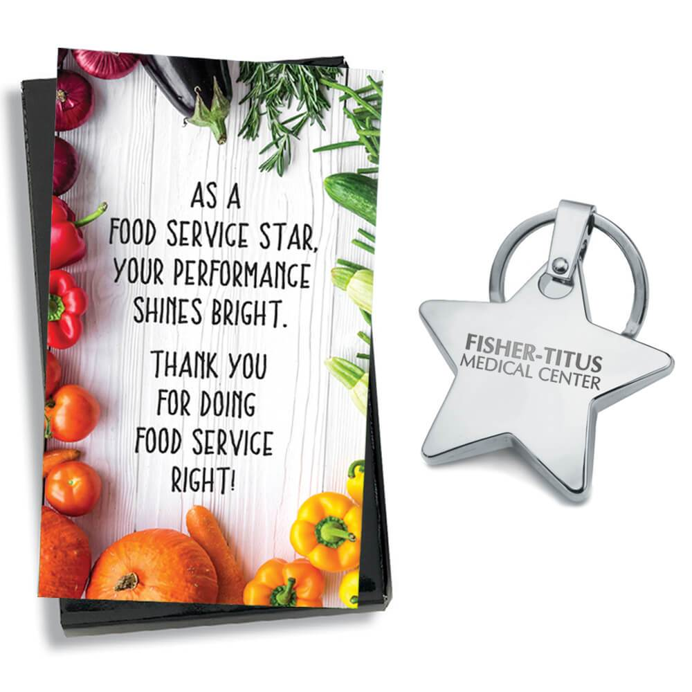 Gift-Boxed Metal Star Key Tag With Keepsake Card - Personalization Available