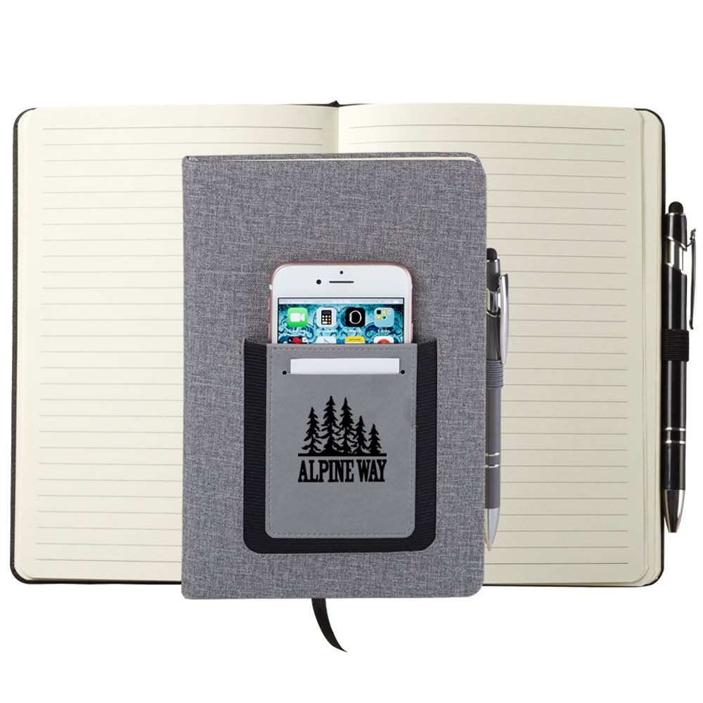 Gray Northfield Phone Pocket Journal - Personalization Available