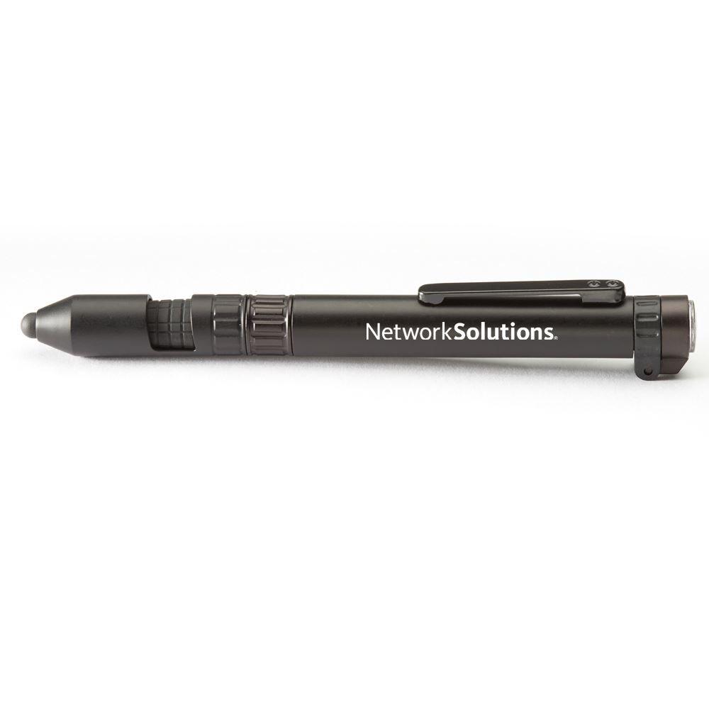 Black 6-In-1 Dynamo Multi-Tool Pen - Personalization Available