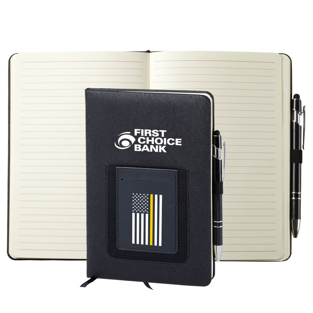Thin Gold Line Northfield Phone Pocket Journal - Personalization Available