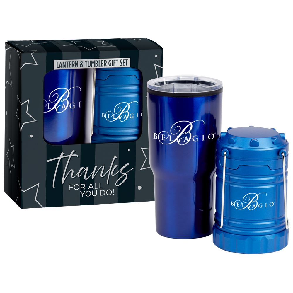 Timber Tumbler & Retractable Magnetic Lantern 2-Piece Gift Set - Personalization Available