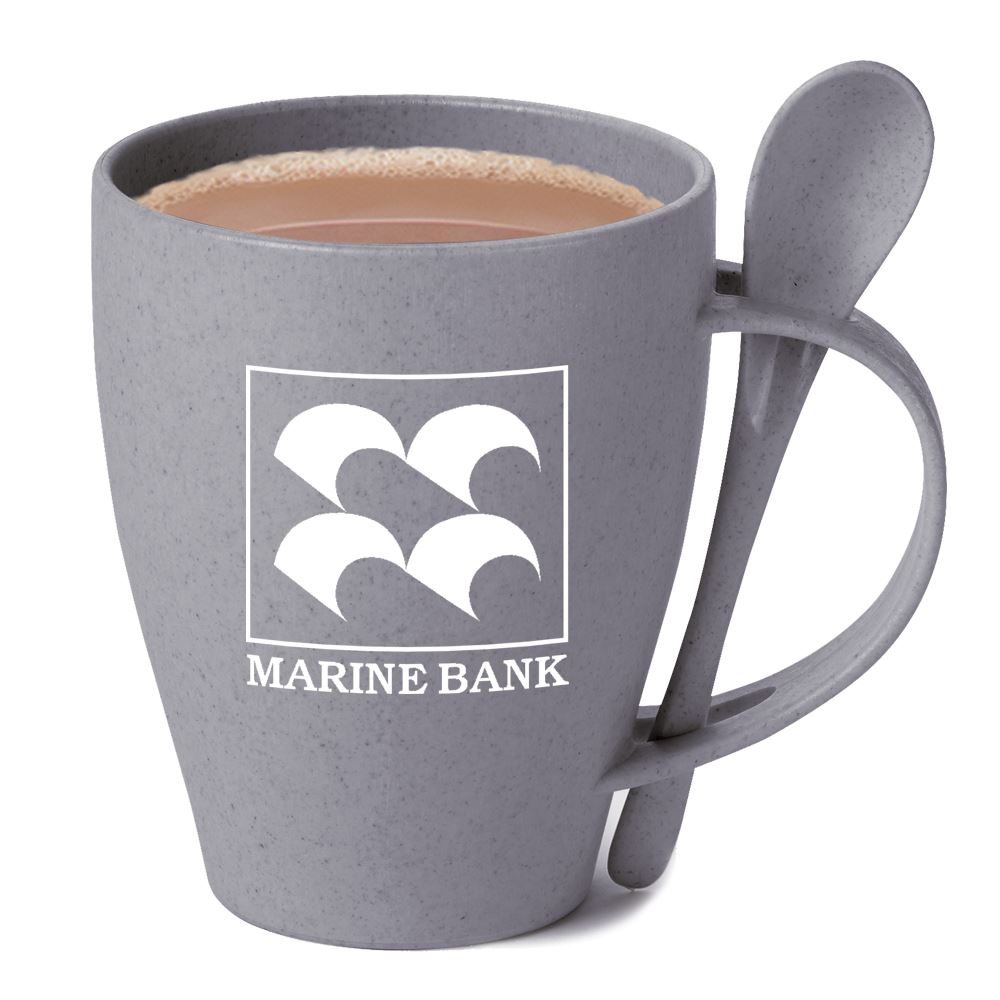 Eco-Friendly Wheat Mug 12-Oz. With Spoon - Personalization Available