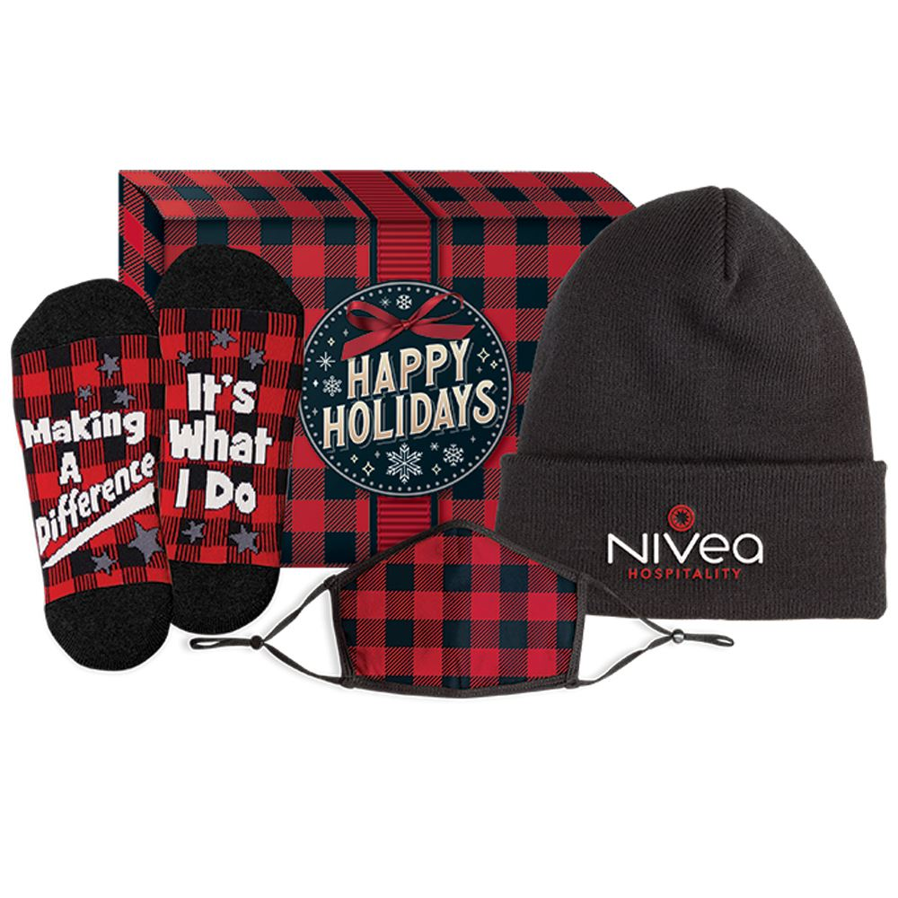 3-In-1 Winter Warmth & Wellness Gift Set In Holiday Gift Box - Personalization Available