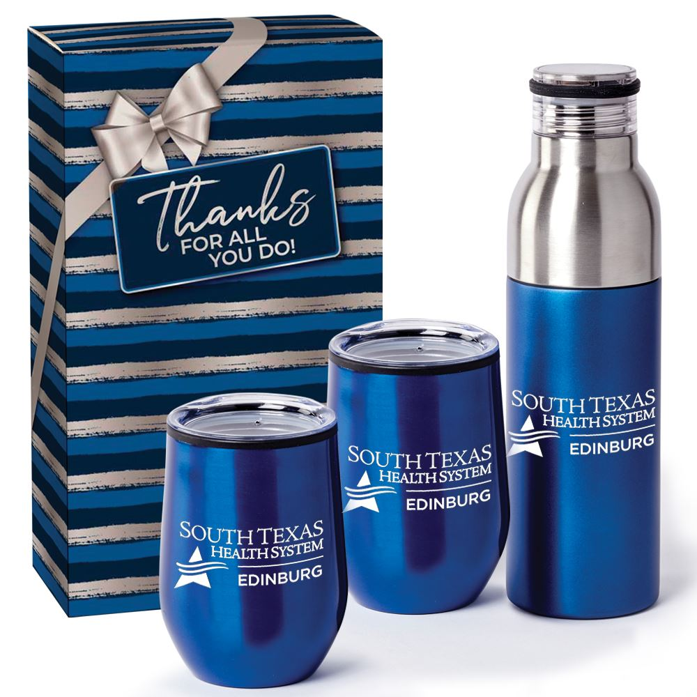 Beverage Lovers 3-Piece Gift Set (Blue) - Personalization Available