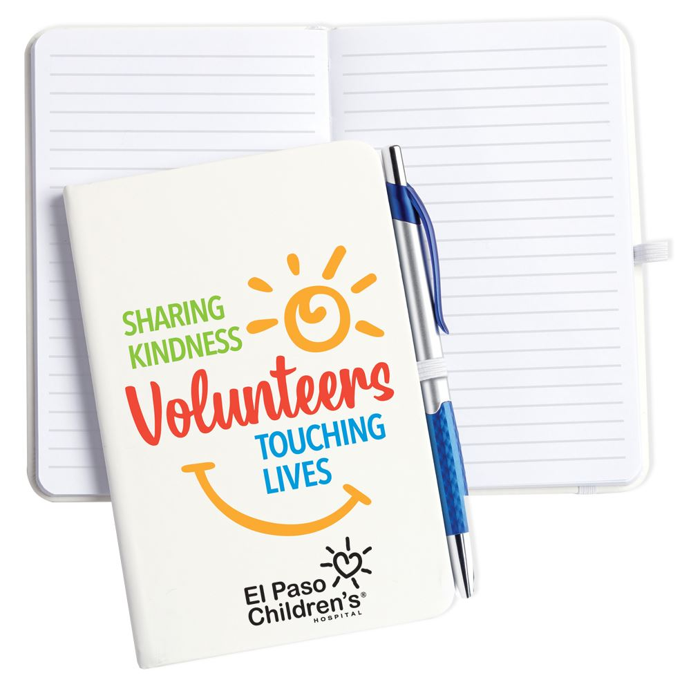 Volunteers:Sharing Kindness, Touching Lives Hardcover Journal With Pen
