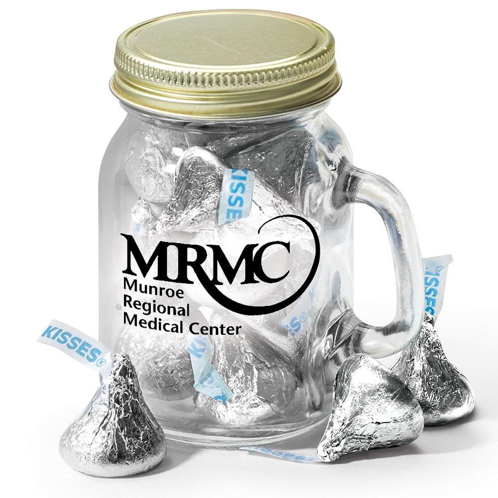 Personalized Mini Mason Jar Mug & Hershey's® Kisses®
