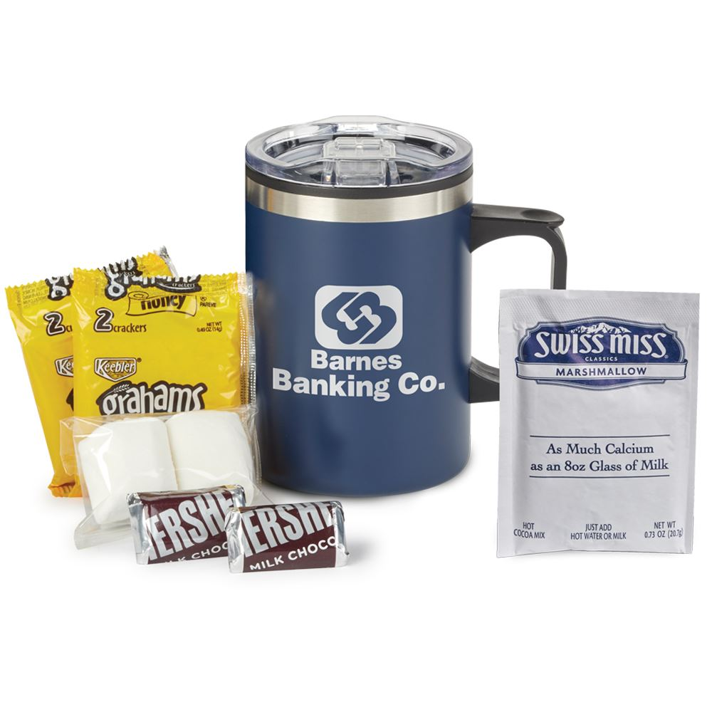 Sonoma Stainless Steel Mug 12-Oz. With Smores Gift Set- Personalization Available