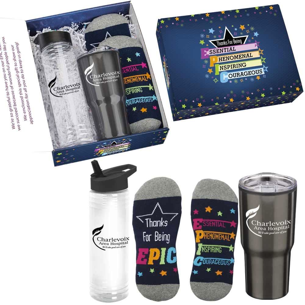 Thanks For Being EPIC 3-Piece Employee Care Kit with Appreciation Card - Personalization Available
