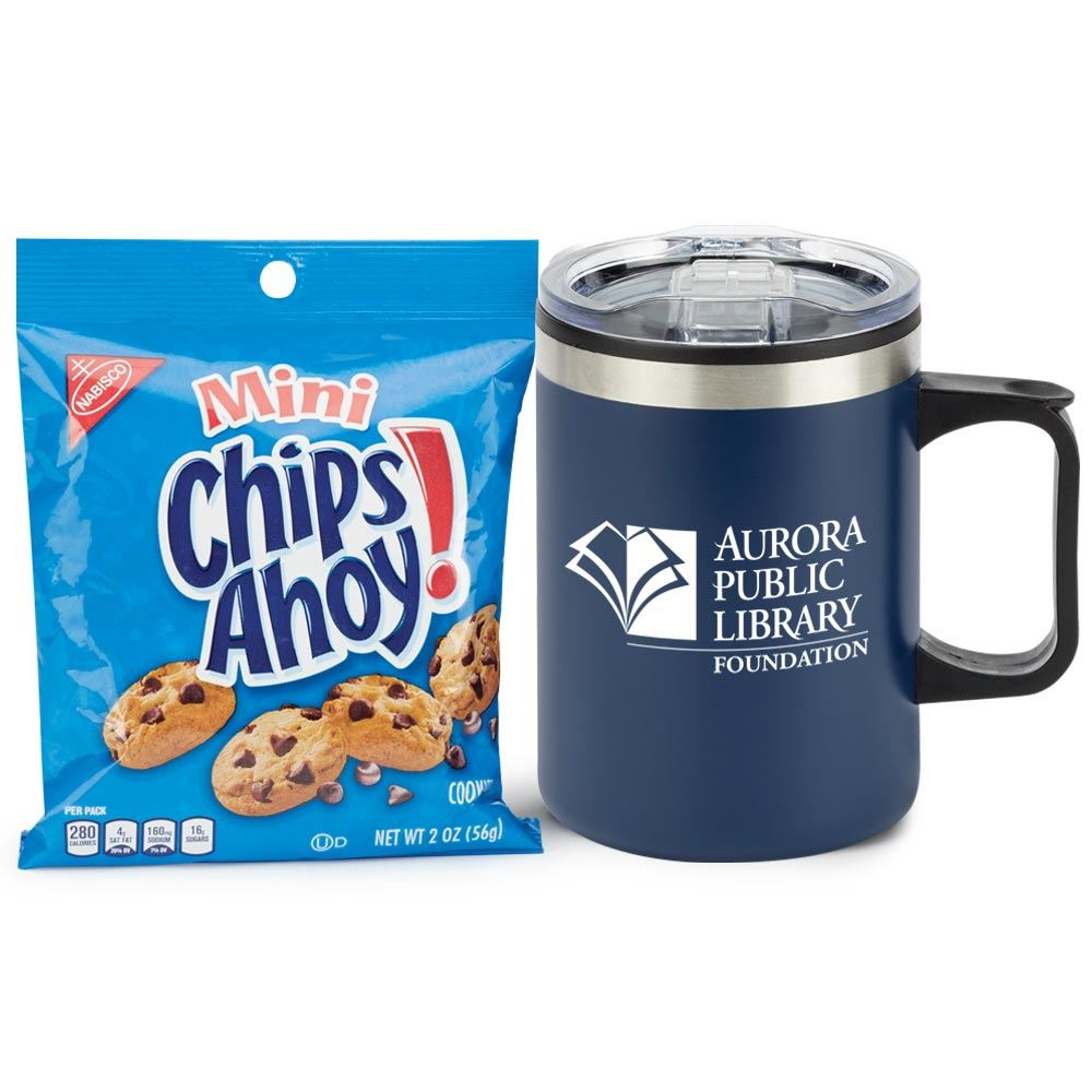 Blue Sonoma Stainless Steel Mug 12-Oz. With Cookies - Personalization Available