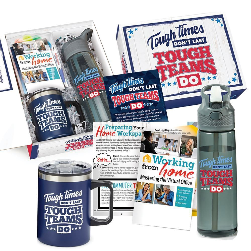 Tough Times Don't Last, Tough Teams Do 7-Piece Employee Care Kit with Personalized Card