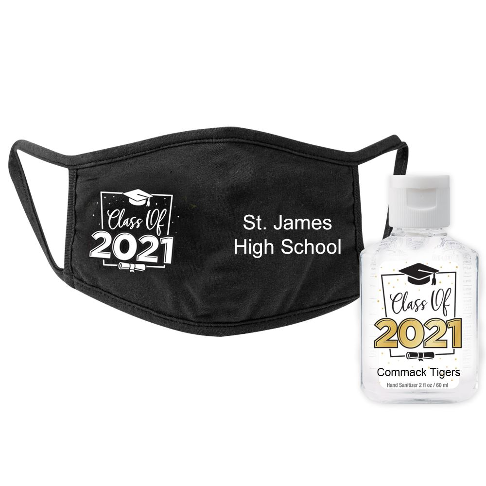Class Of 2021 Mask & Sanitizer Protection Kit - Personalization Available