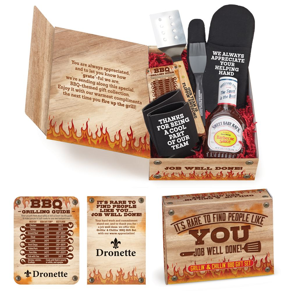 Grillin' & Chillin' BBQ Employee Care Kit With Personalized Appreciation Card