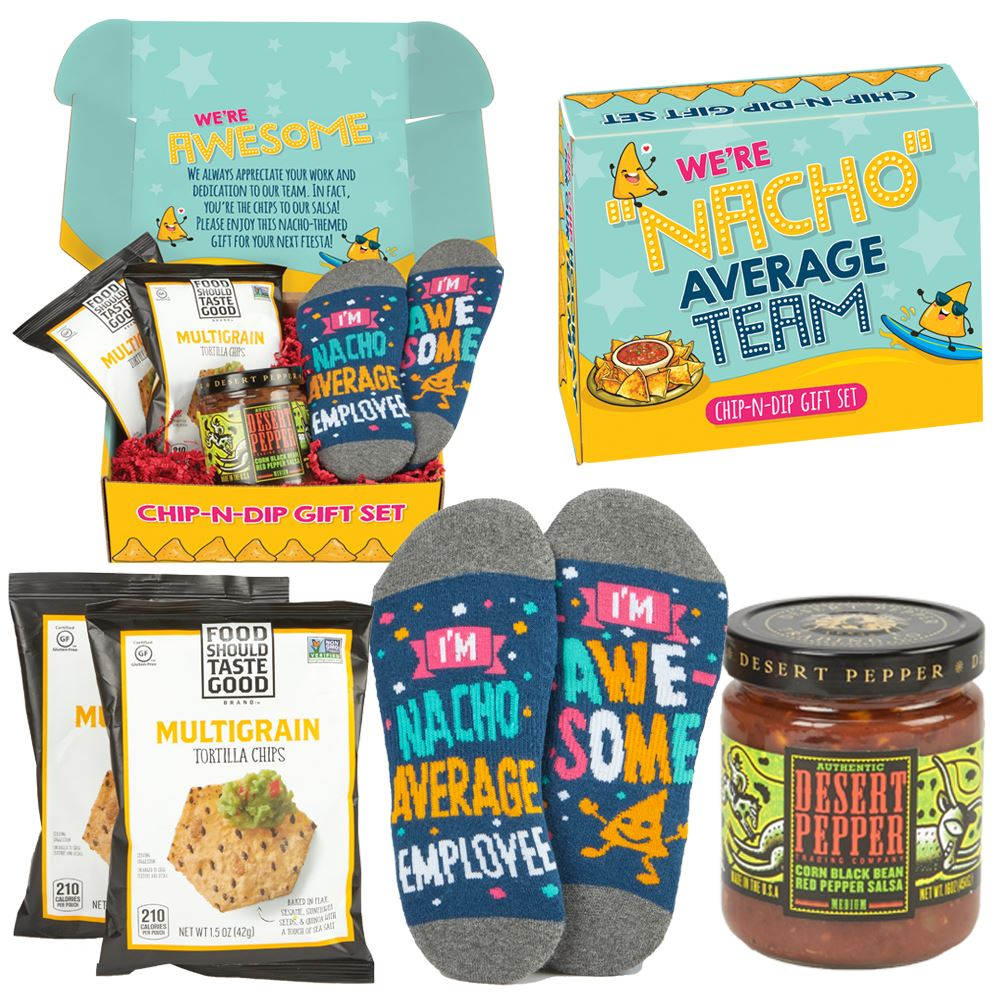 We're Nacho Average Team Chip-N-Dip Gift Set With Personalized Appreciation Card