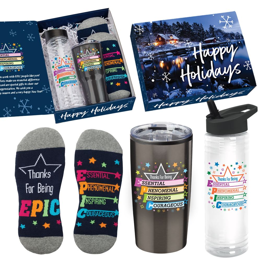 Thanks For Being EPIC Gift Set In Holiday Gift Box - Card Personalization Available
