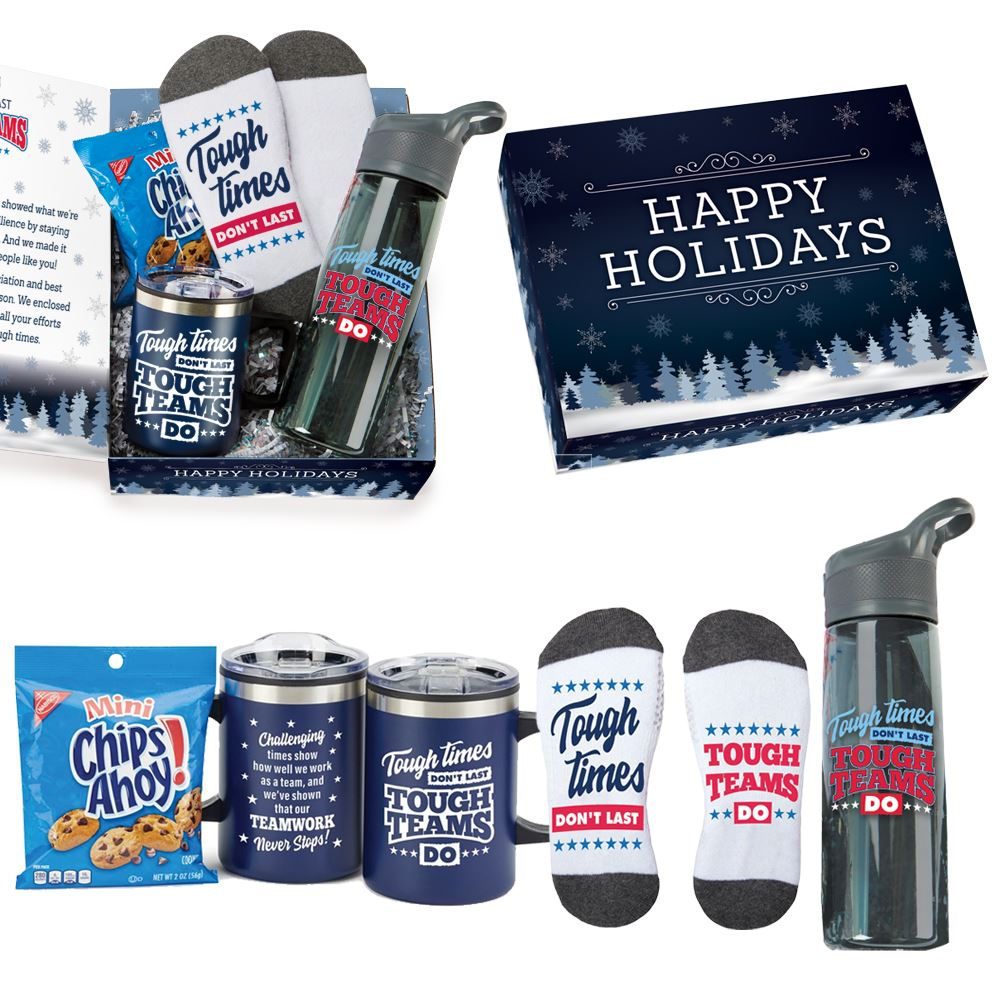 Tough Times Don't Last, Tough Teams Do Gift Set In Holiday Gift Box - Card Personalization Available
