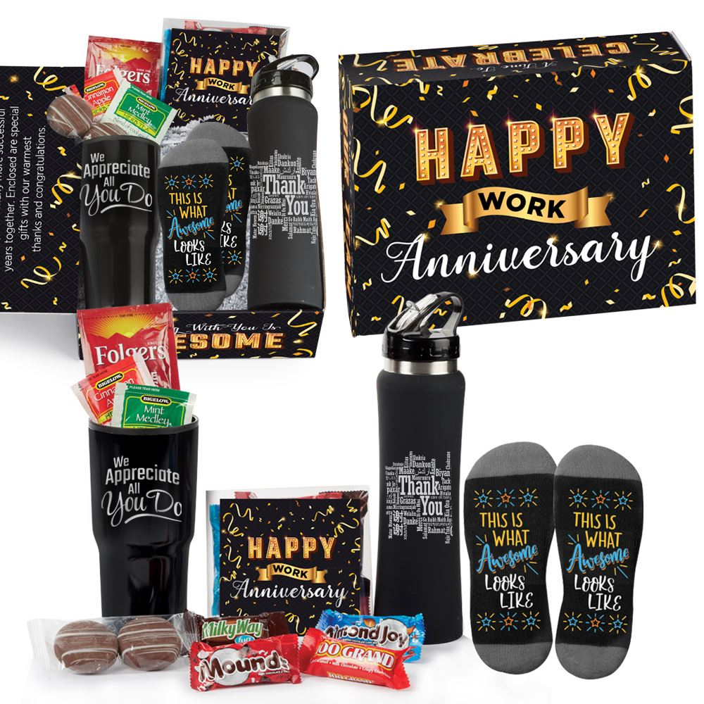 We Appreciate All You Do Service Kit In Happy Work Anniversary Gift Box - Card Personalization Available