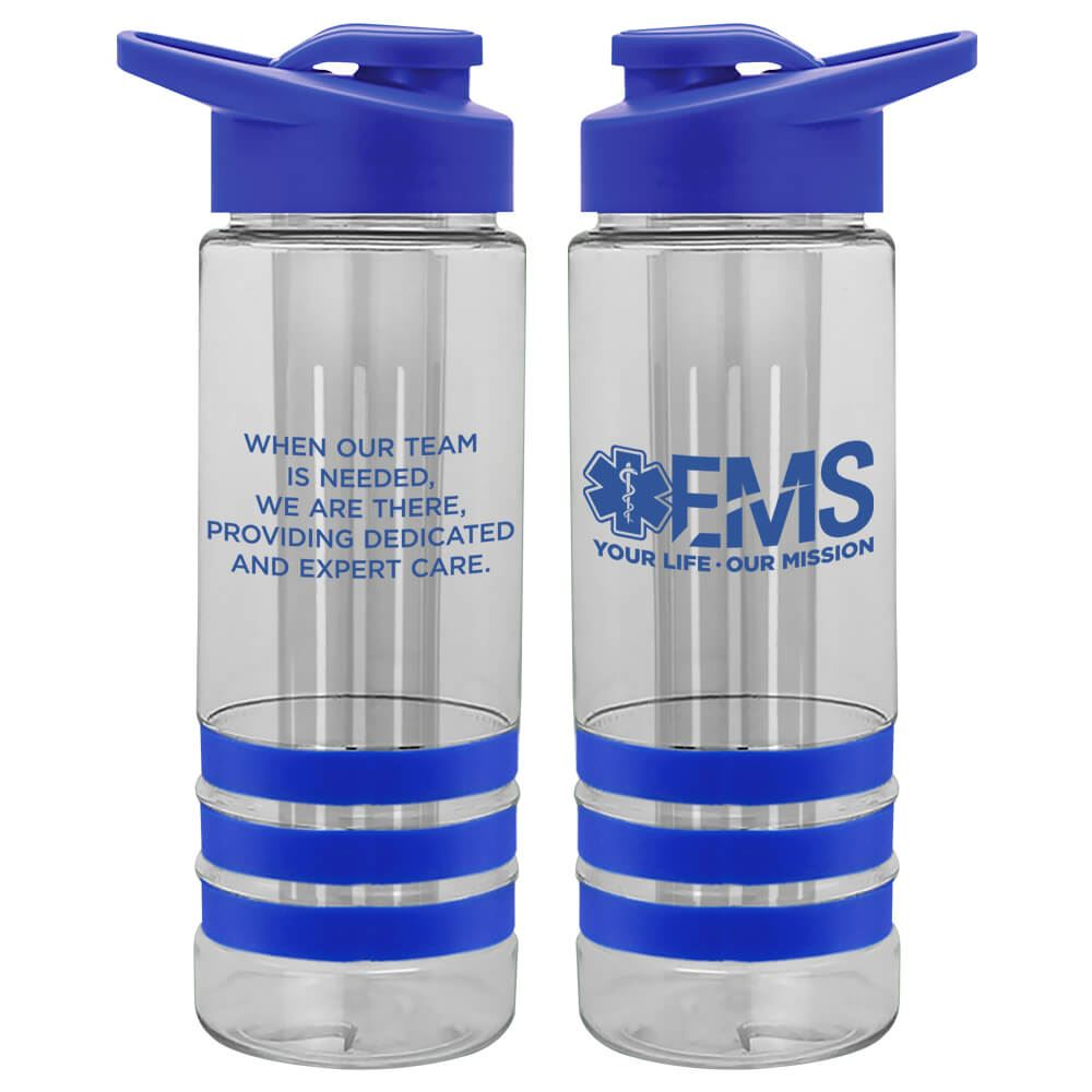 EMS: Your Life, Our Mission Fresno Fruit Infuser Water Bottle 24-oz.