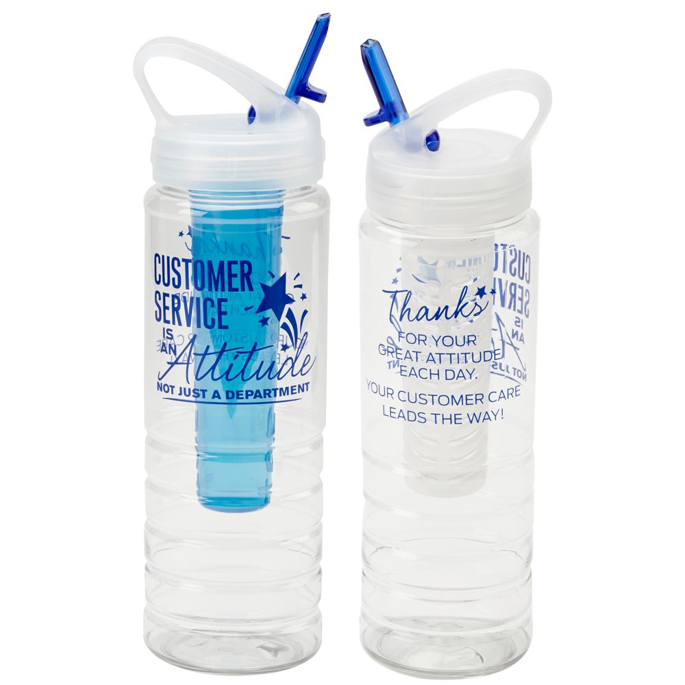 Customer Service Is An Attitude, Not A Department 3 in 1 Essential Water Bottle 26-OZ.