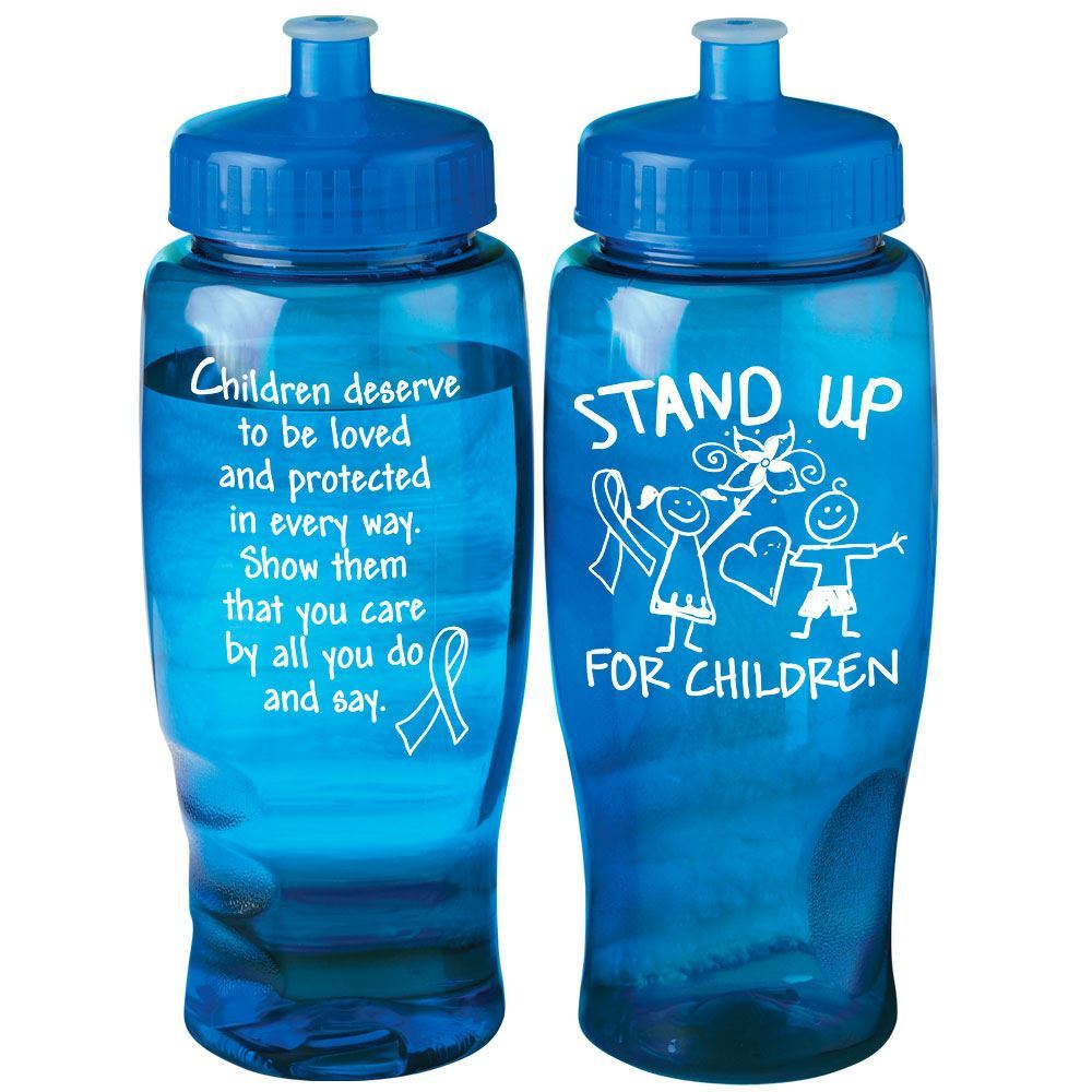Stand Up For Children Contour Grip Water Bottle 27-oz.