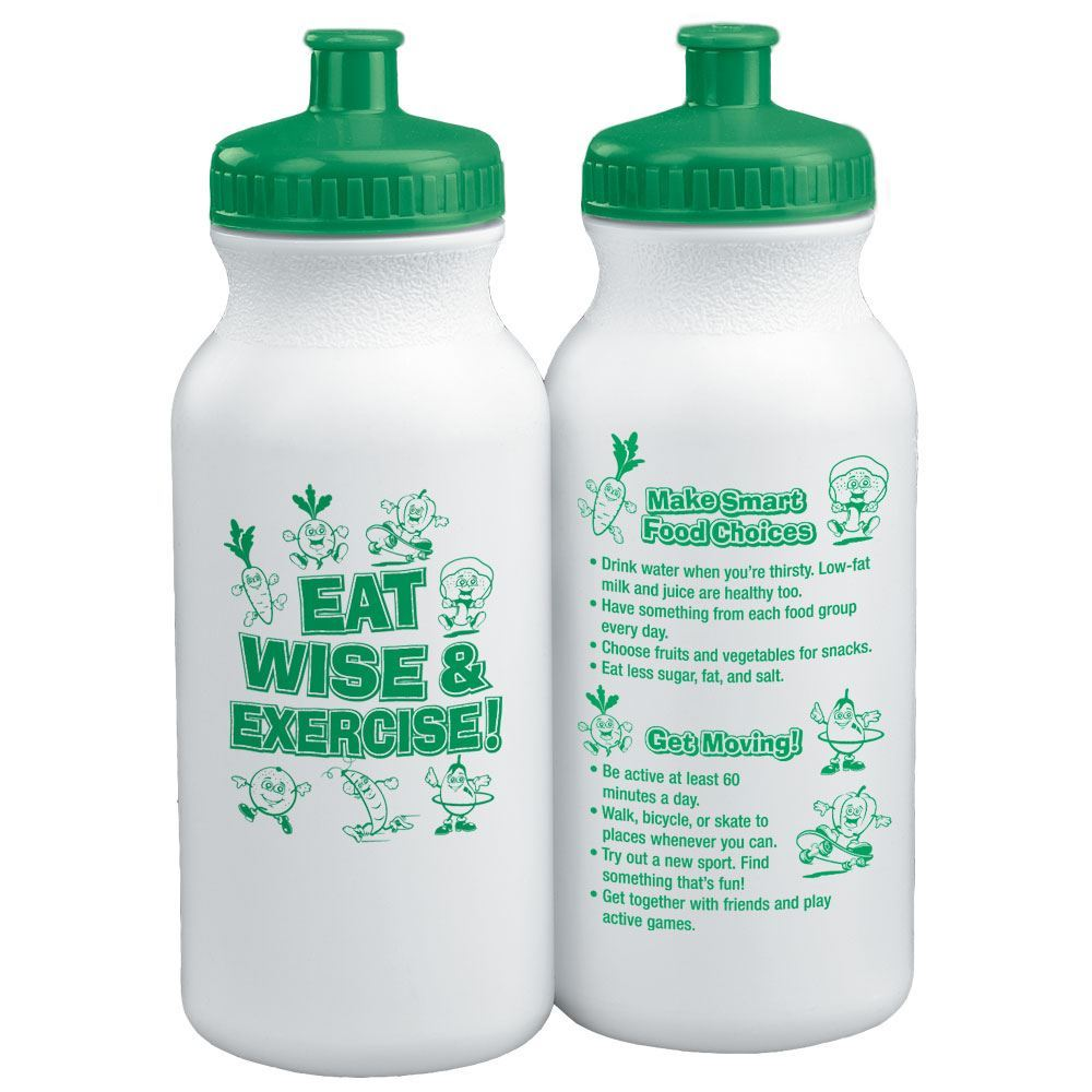 Eat Wise And Exercise! Water Bottle 20-oz.